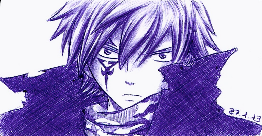 Mystogan (ballpoint pen) by Chocogirl3