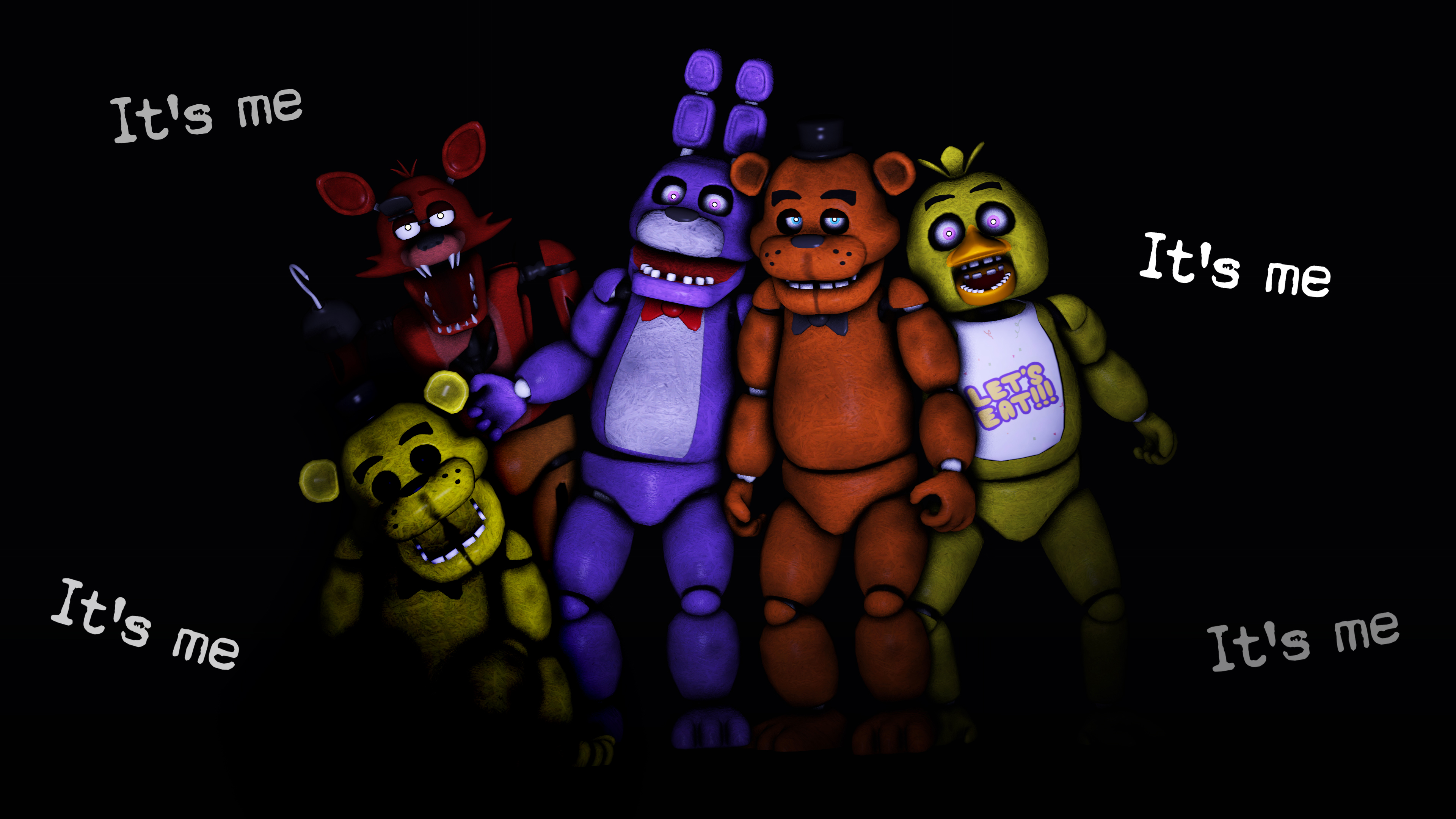 SFM FNAF Animatronics By LoneWolfHBS On DeviantArt