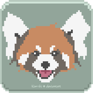 Red Panda [Pixelart] by Kim-iki