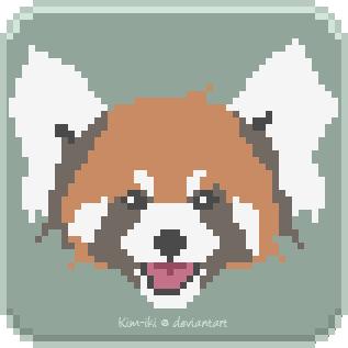 Red Panda [Pixelart] by Kim-iki