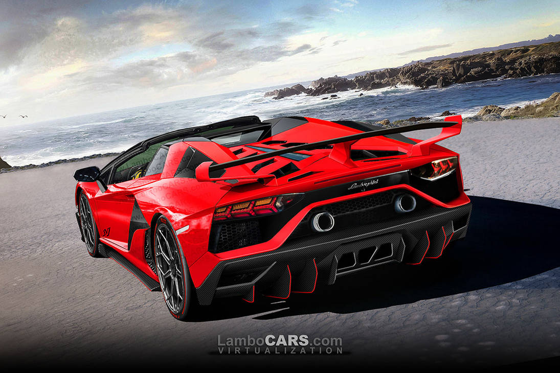 08 2019 Aventador Svj Roadster Rear By Lambocars On Deviantart