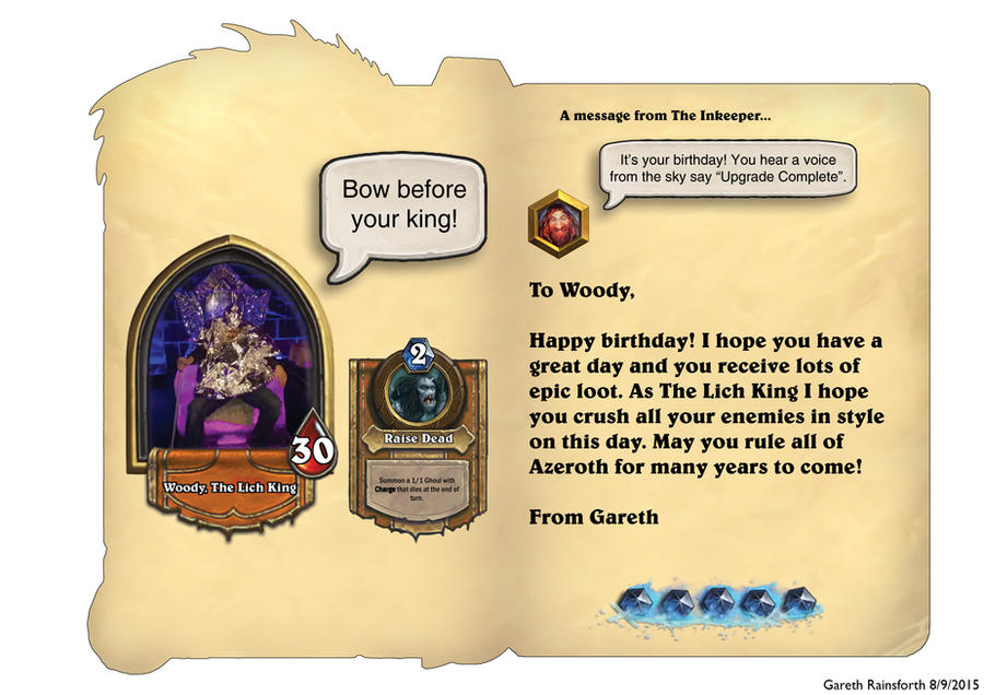 Hearthstone Birthday Card Inside By Garethgwr On Deviantart