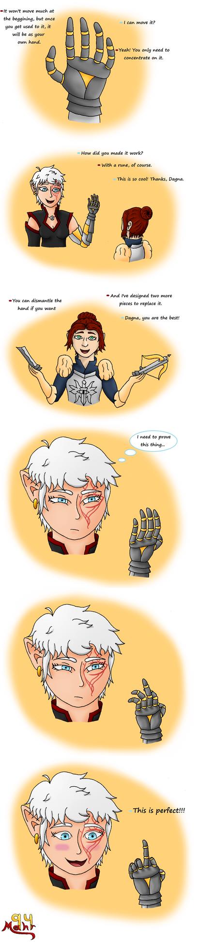 DAI: New hand (Trespasser Spoiler!!!) by Mahr94