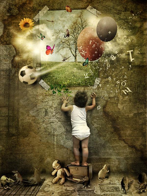 LOOK UP..DREAMYLAND by sabercore23ArtStudio