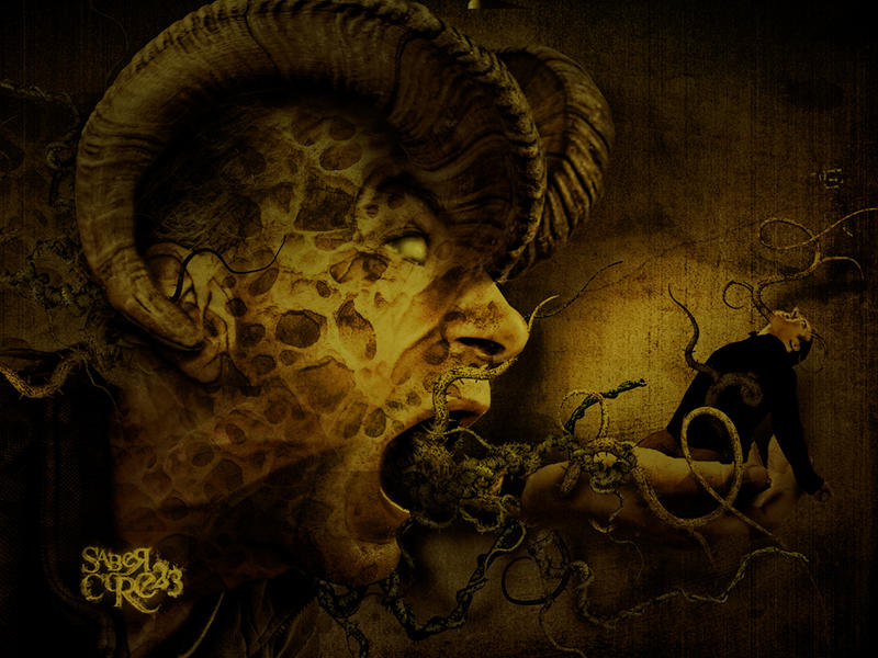 facesOFEviLBorn-II by sabercore23ArtStudio