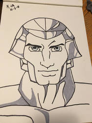 Silverhawks leader with sharpie and prismacolor gr by doc21g