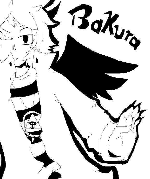 Bakura Black and White by Sparkylovecupcakes