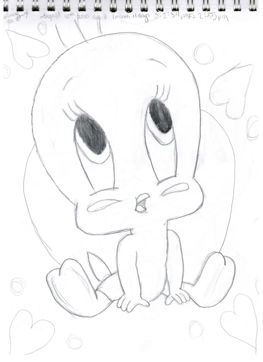 Tweety bird sketch