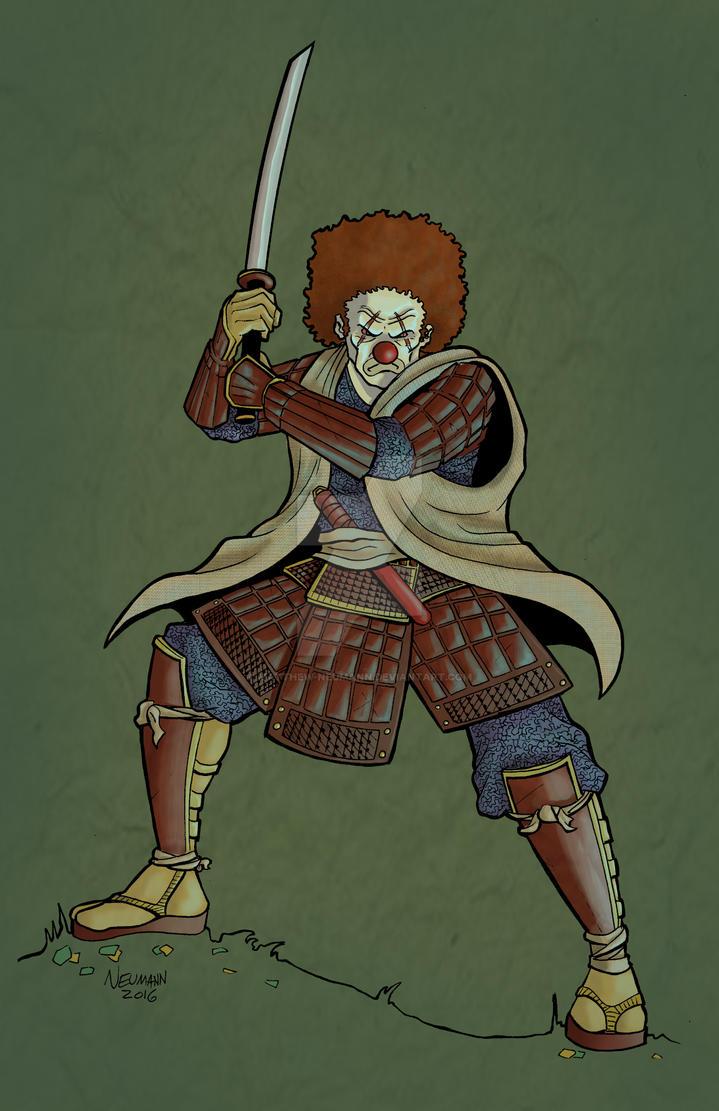 Samurai Clown by Matthew-Neumann
