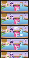Comic Block: Bubbles in the Tub
