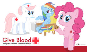 Ponyville Blood Drive Poster