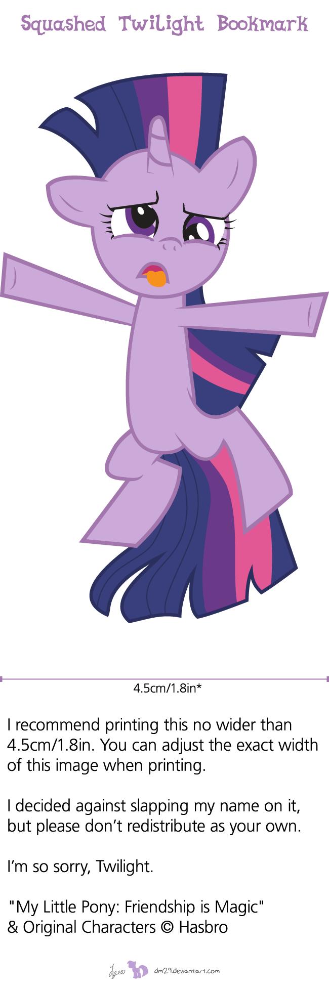 Squashed Twilight Bookmark