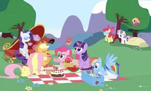 Mane Six Picnic Party