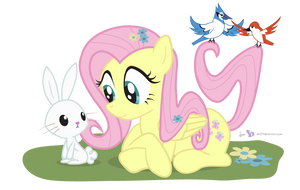Fluttershy in 'One With Nature' by dm29