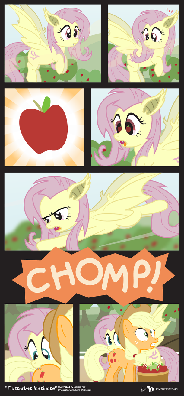Comic Block: Flutterbat Instincts by dm29