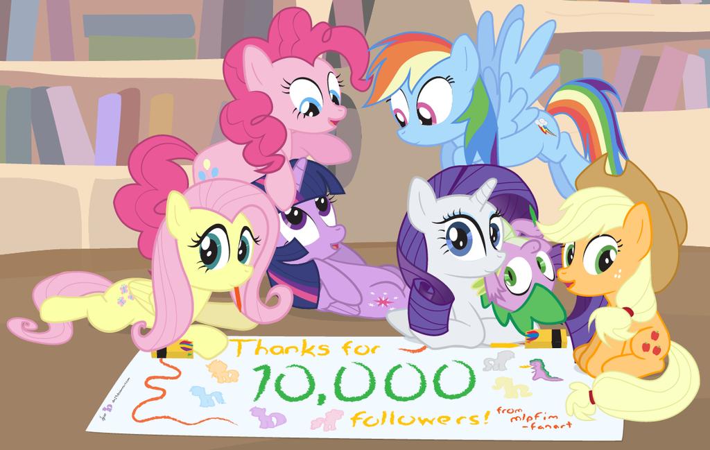 10K tumblr Milestone: MLPFIM-Fanart [!C] by dm29