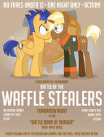 Battle of the Waffle Stealers Poster by dm29