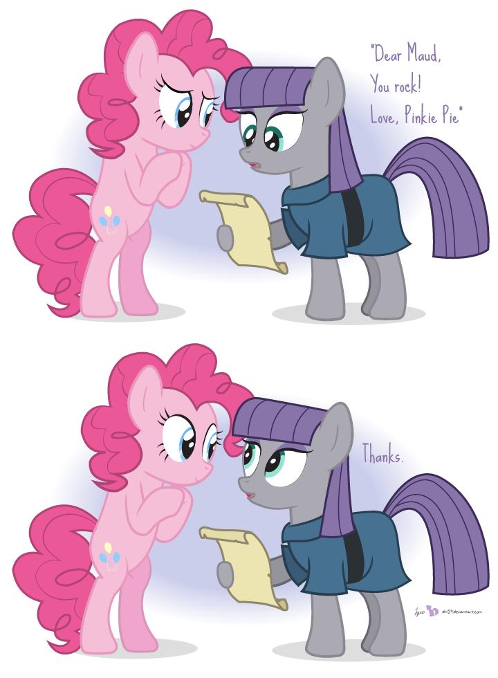 Pinkie and Maud Pie by dm29