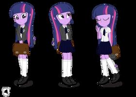 Twilight Sparkle, Equestria Academy Ver. by dm29
