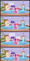 Comic Block: Bubbles in the Tub (Redux)