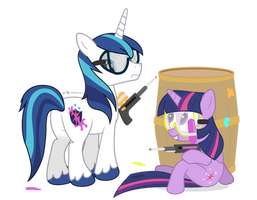 Paintball Siblings by dm29