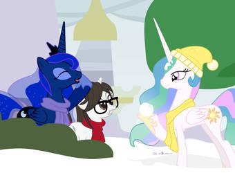 #dm29HolidayHorse Day 8: Luna, Celestia + Raven