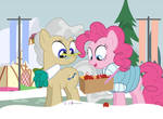 #dm29HolidayHorse Day 12: Pinkie + Mayor Mare