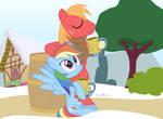 #dm29HolidayHorse Day 15: Rainbow Dash + Big Mac
