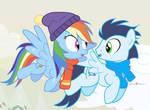 #dm29HolidayHorse Day 23: Rainbow Dash + Soarin'