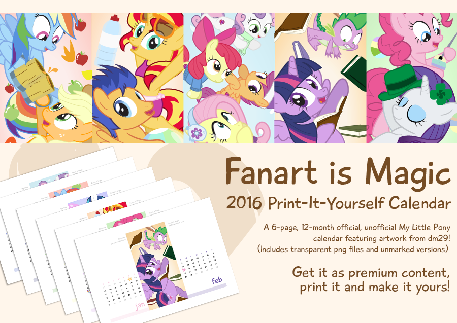 Fanart is magic 2016 print it yourself calendar by dm29 on deviantart fanart is magic 2016 print it yourself calendar by dm29 solutioingenieria Gallery