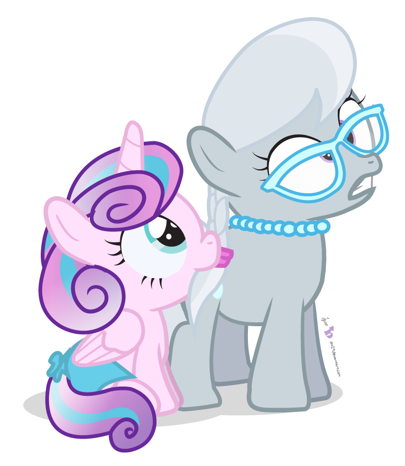 My Little Pony Coloring Pages Silver Spoon : Born with a silver spoon by dm on deviantart