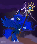 Princess Luna as The Shaman from 'Populous' [!C]