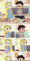 Pizza Time with Marco and Star by dm29
