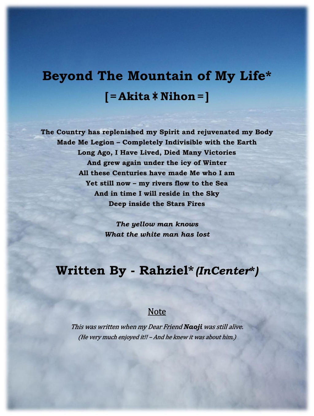 Beyond The Mountain of My Life - RzICxZz by InCenter