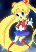 Chibi Sailor Moon by plurain