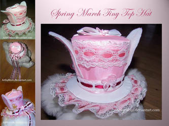Spring March Tiny Top Hat by ArtbyMom