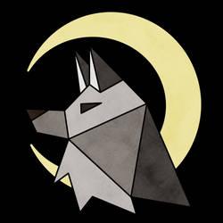 geometric wolf commission