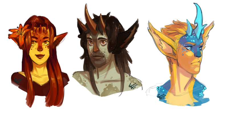 Some Human Minkin heads by SmashinAssassin