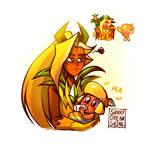Ananas Dragon cookie is mama