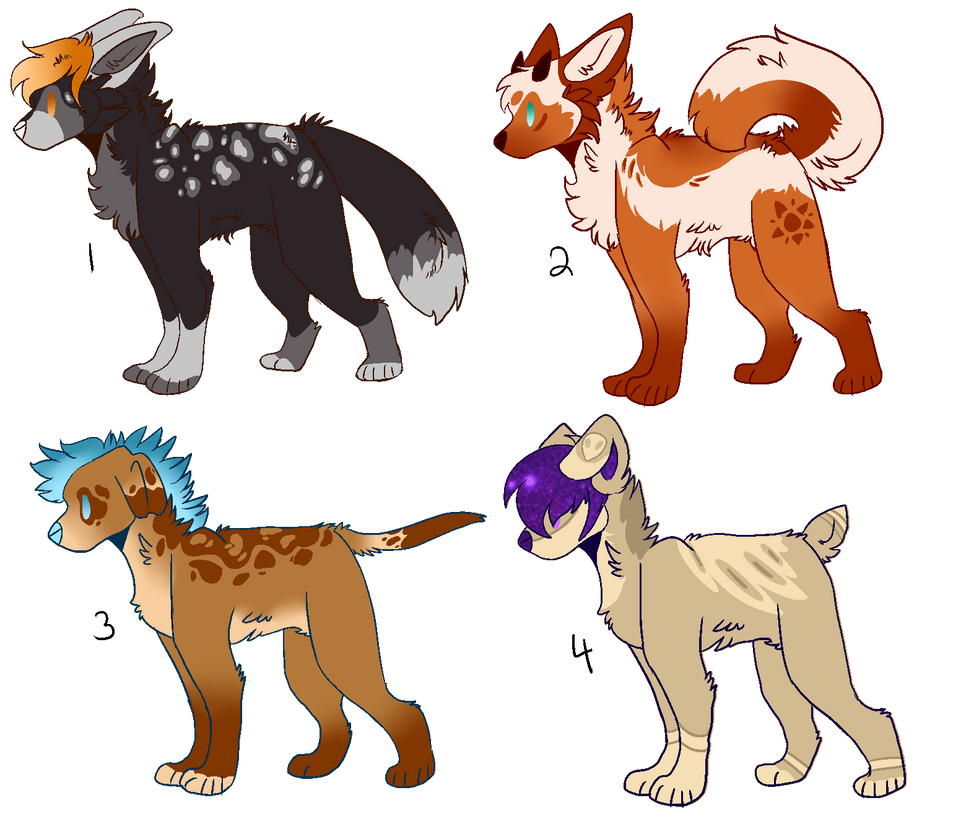Chibi Dogs : CLOSED 0/4 by jack-a-yote on DeviantArt