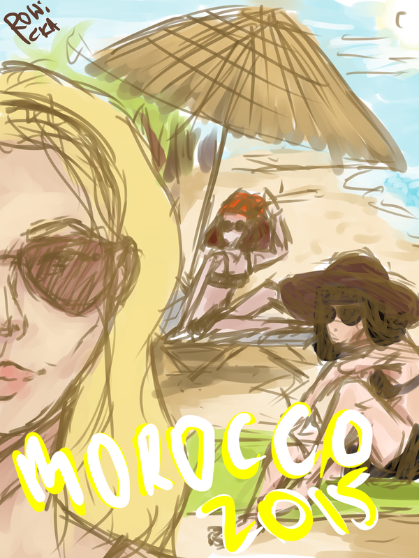 The gang on the beach by shinei-chan