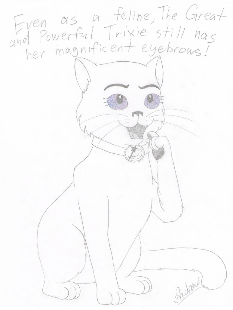 The Great and Powerful Trixie as a cat! by KlarkKentThe3rd