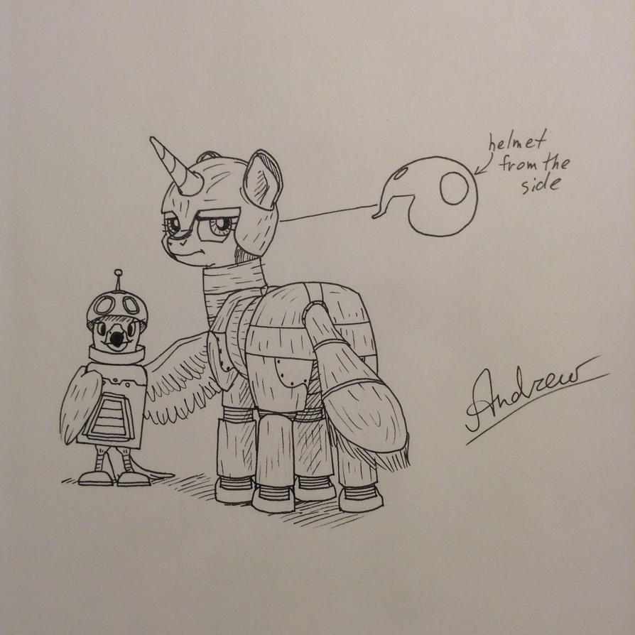 Pony and hawk visit a convention (unfinished) by KlarkKentThe3rd
