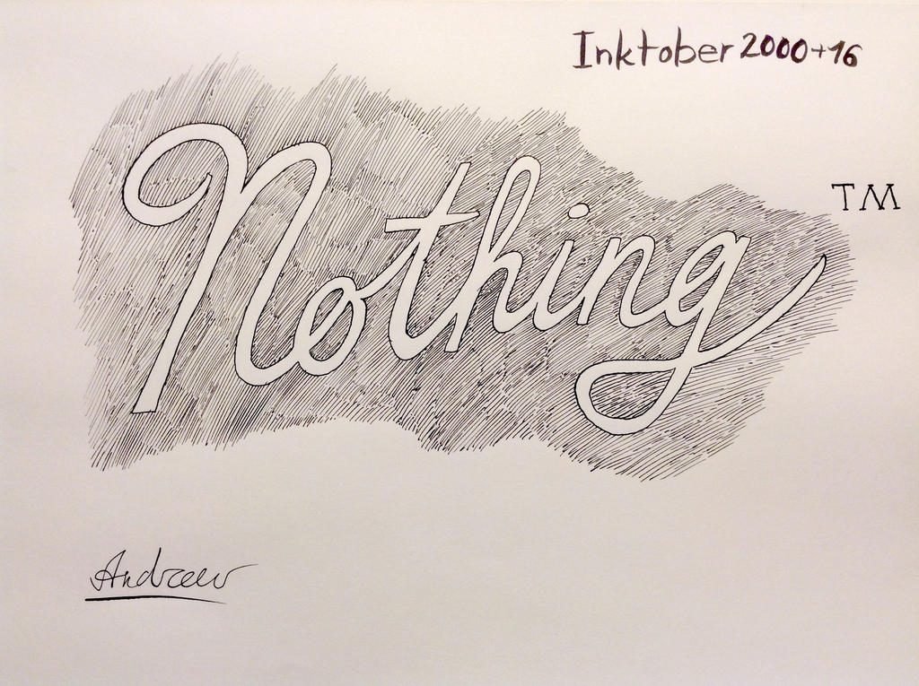 Inktober#31: The fabulous nothing by KlarkKentThe3rd