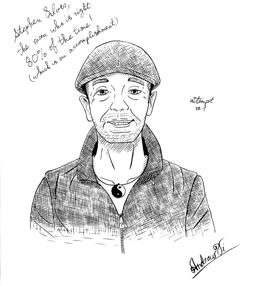 Stephen Silver portrait attempt #1 by KlarkKentThe3rd