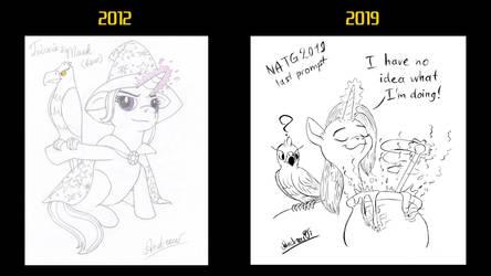 Beatrix horse + hawk progress