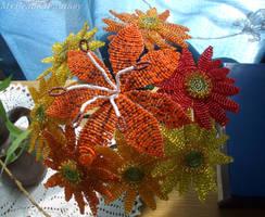 Beaded Flowers by MyBeadedFantasy