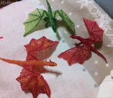Beaded Dragons by MyBeadedFantasy