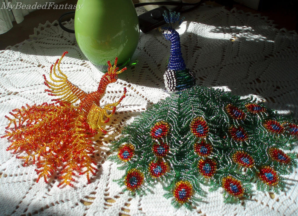 Beaded Birds by MyBeadedFantasy