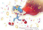 Happy 28th Anniversary Sonic by NACCHAN96